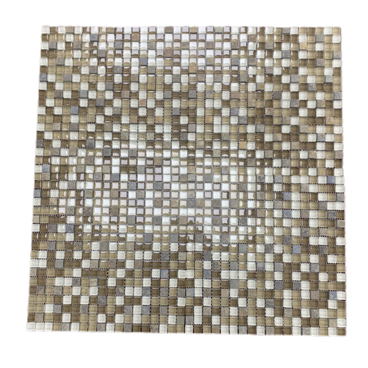 Glass Mosaic & Matt Stone Tile
