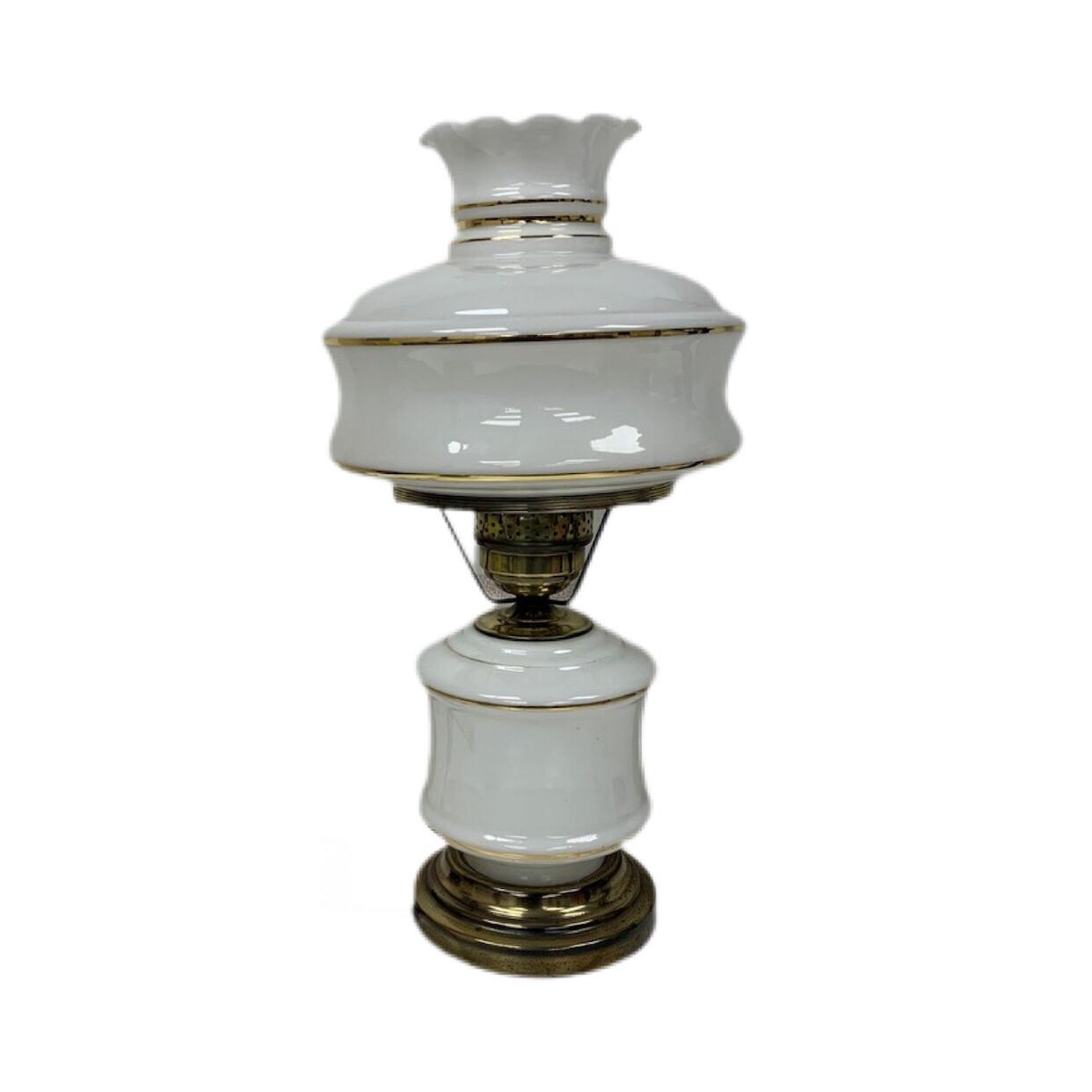 Vintage White & Gold Lamp