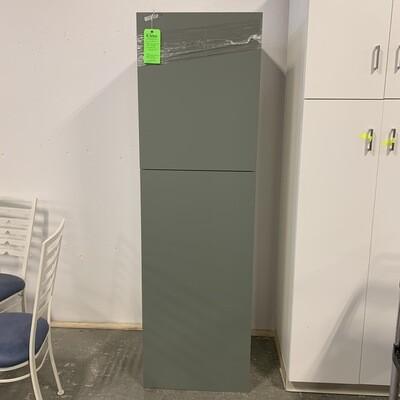 Tall White  Dark Green Cabinet