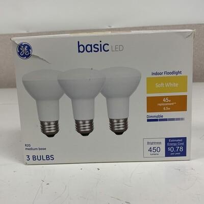 GE Basic LED Indoor Soft White  Floodlights 3 Pack