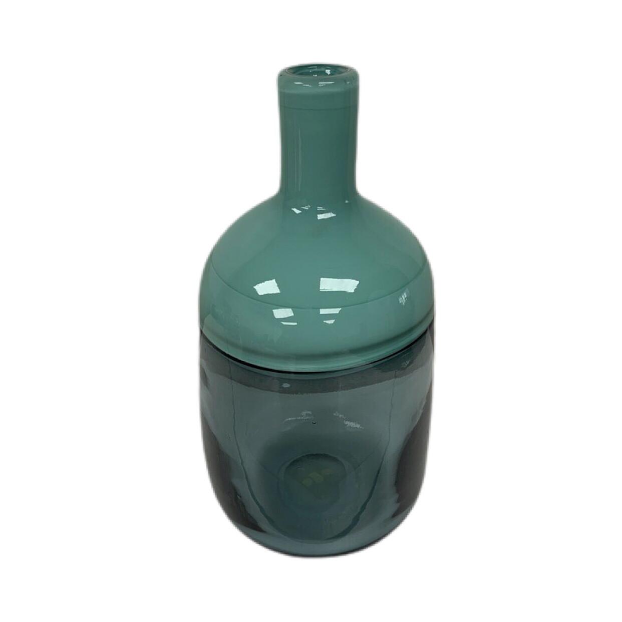 Vitreluxe Blue Bottle Glass Vase