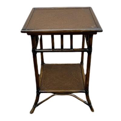 Dark Rattan Side Table