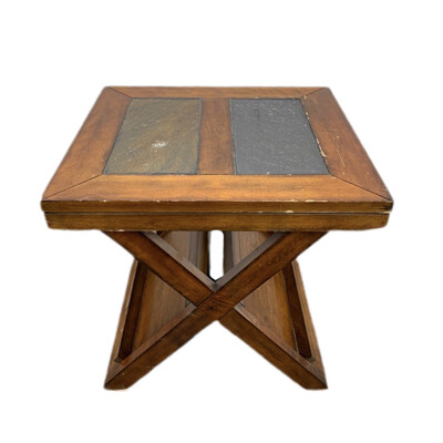 Stone Top Side Table