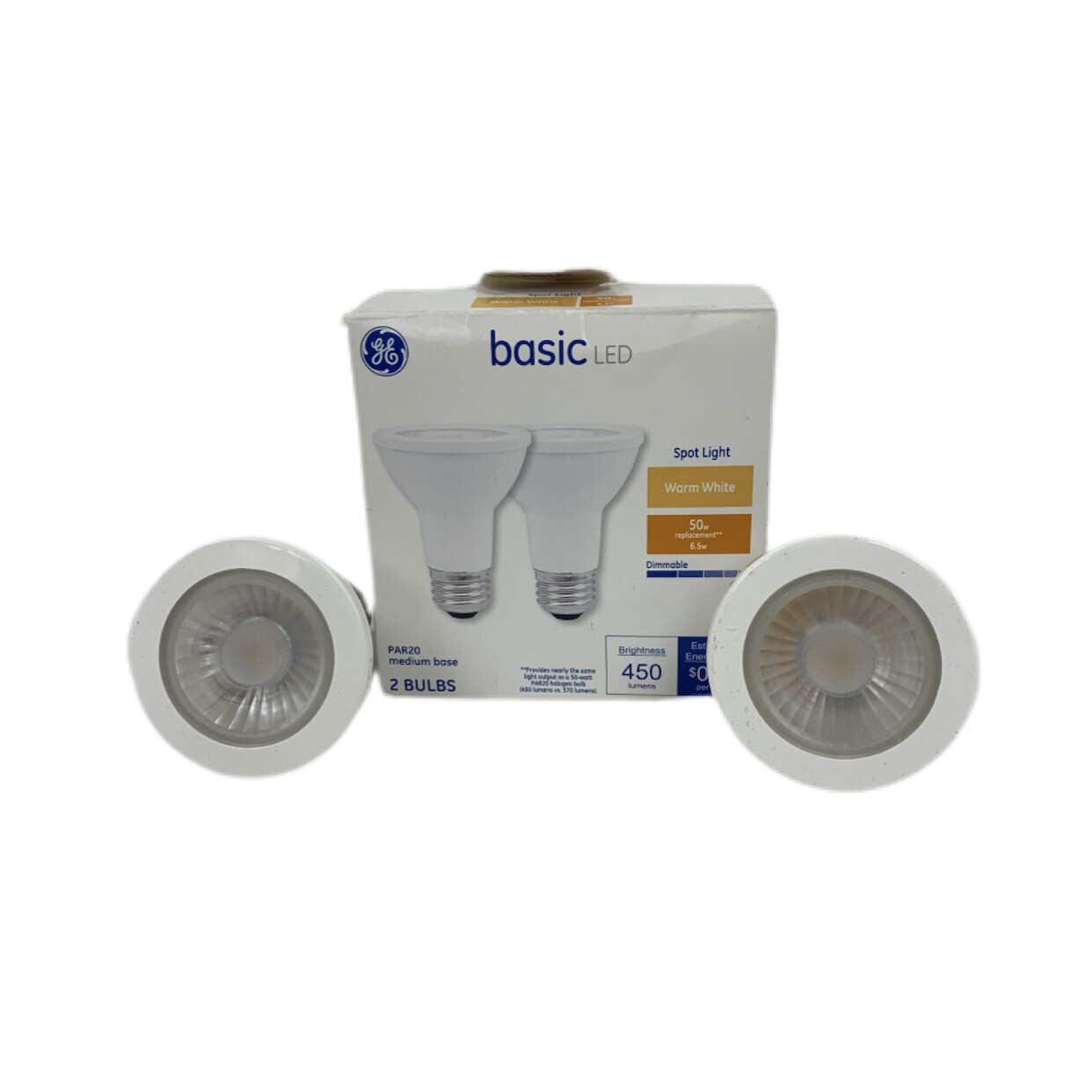 GE  Basic LED Warm White  Spotlight 2 Pack