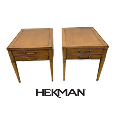 Pair Of Hekman Side Tables