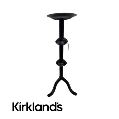 Kirklands Distressed Candle Holder Pillar
