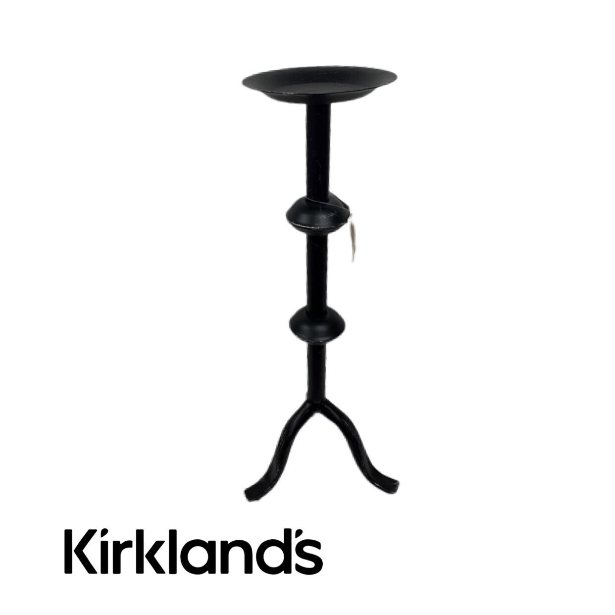 Kirklands Distressed Candle Holder Pillar