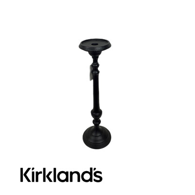 Kirklands Taper Black Candle Holder Stick Pillar