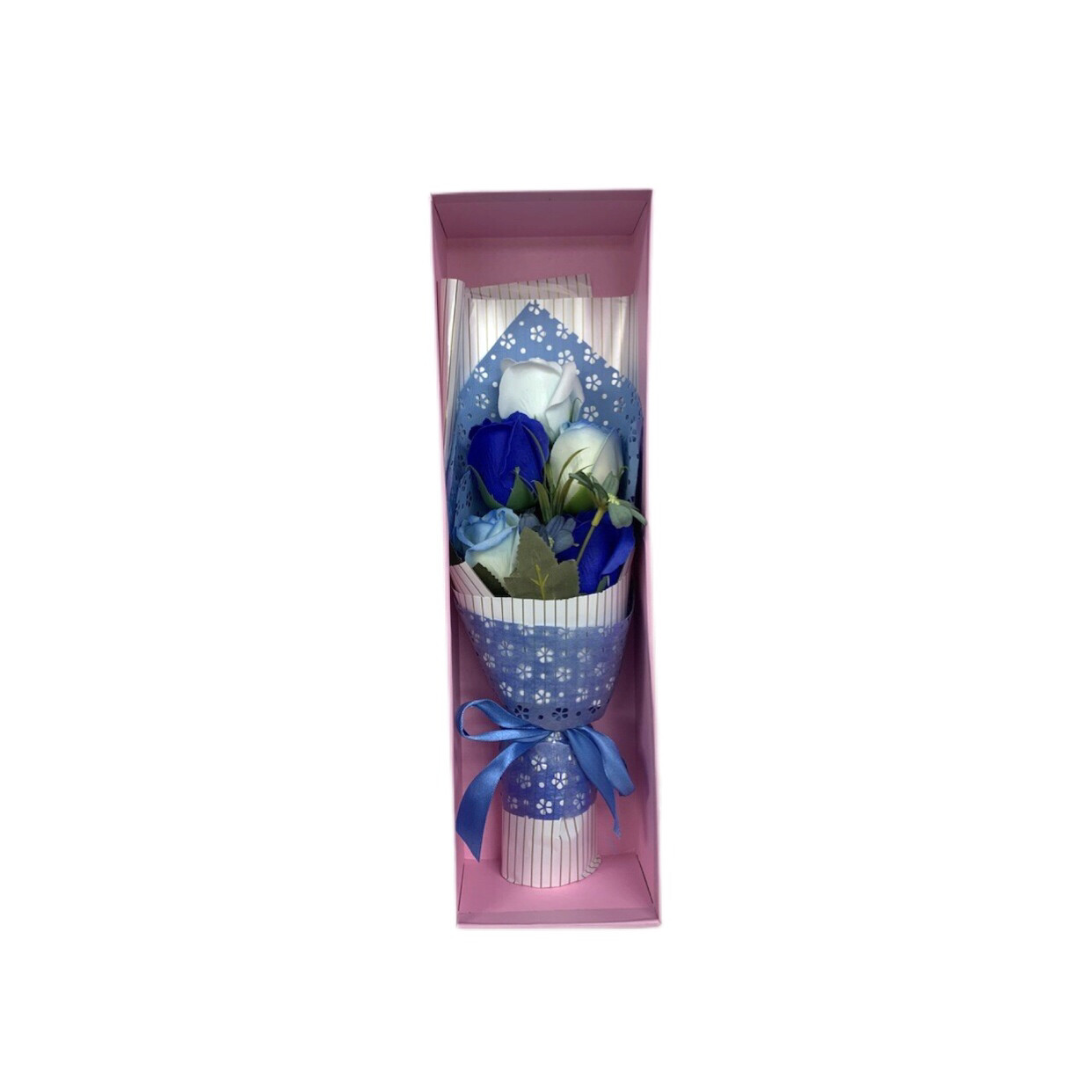 Mini Artificial Blue & White Rose  Bouquet