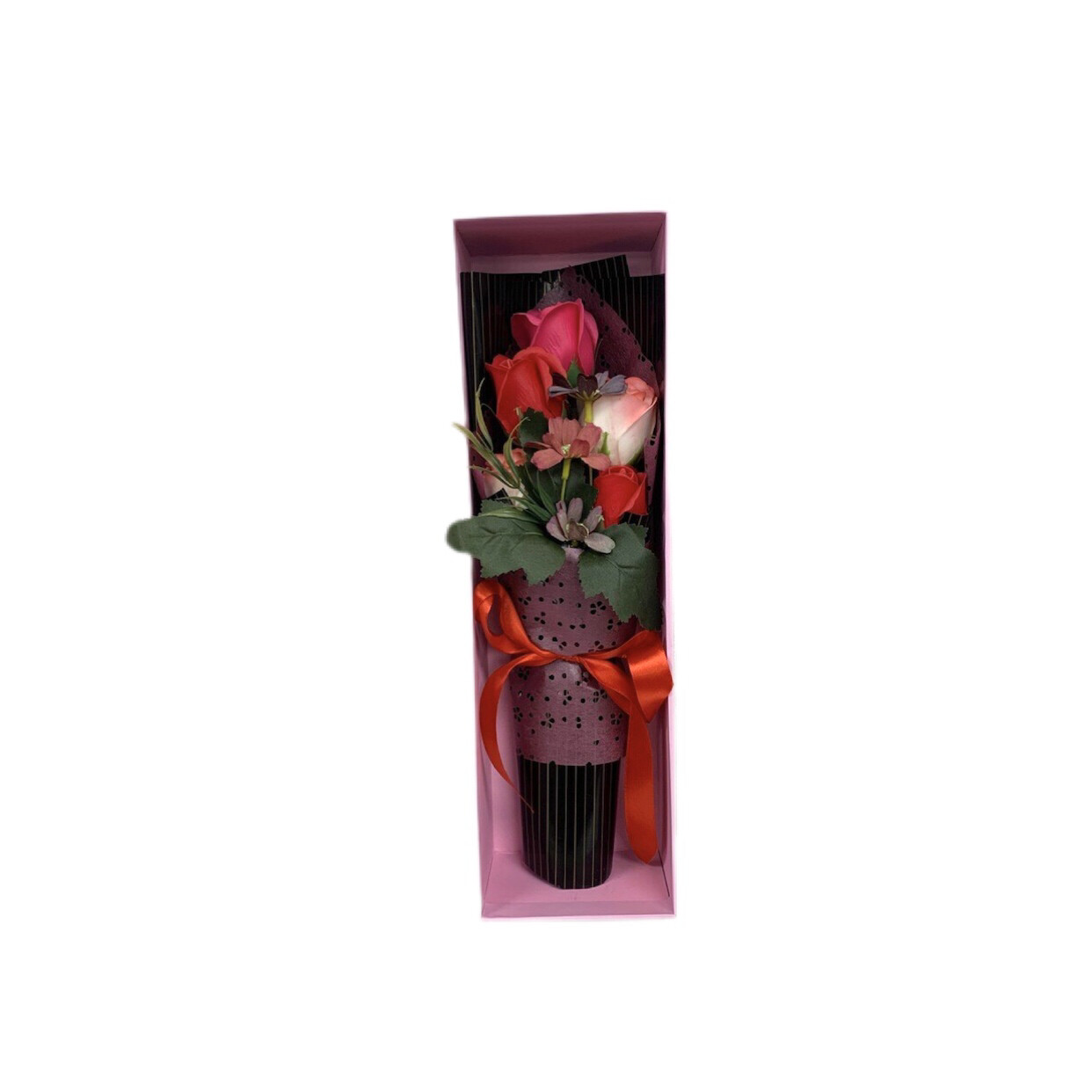 Mini Artificial Pink & Red Rose  Bouquet