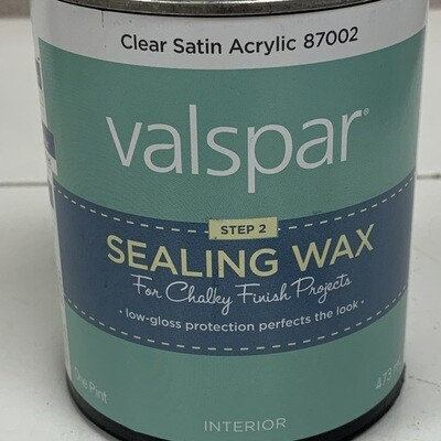 Interior  Valspar Clear Satin Acrylic Sealing Wax Step 2