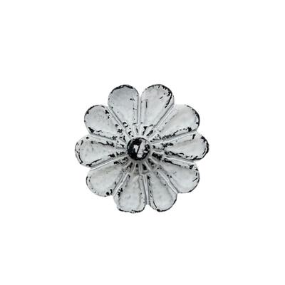 White Flower  Cabinet Knob 4A