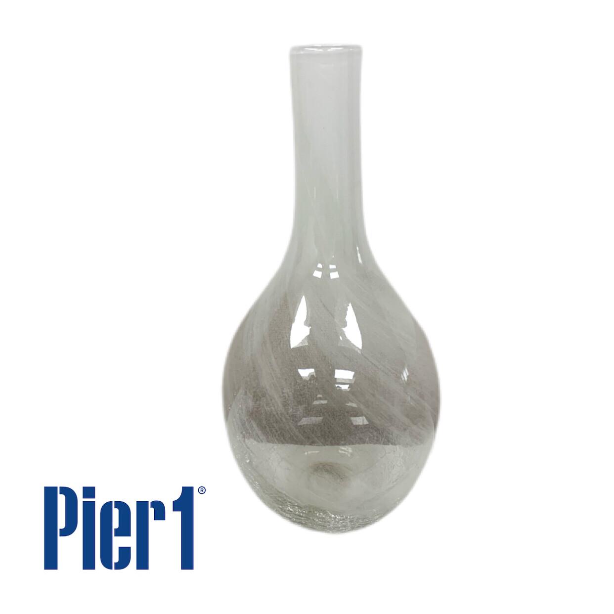 Clear Crackle Finish Vase