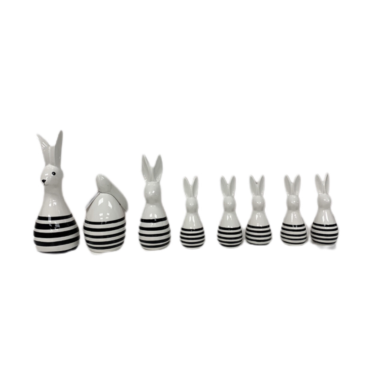 8pc  Farmhouse Ceramic  Bunny Set