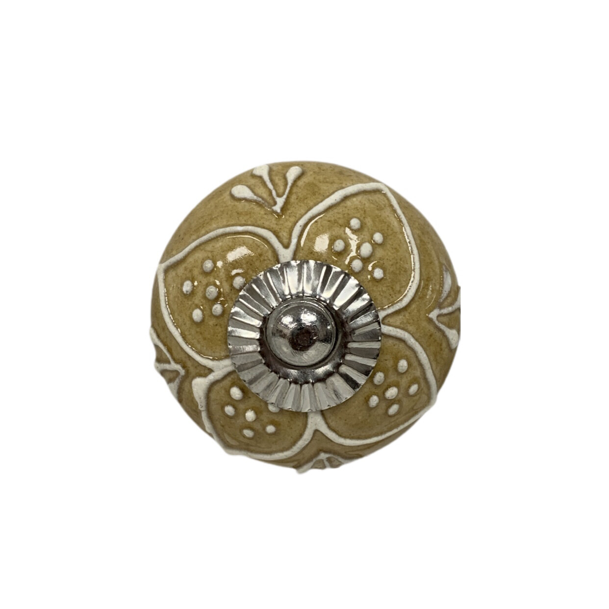 Ceramic Embossed Flower Knob 2D