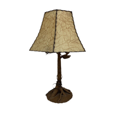 Metal Pine Tree Table Lamp With Shade