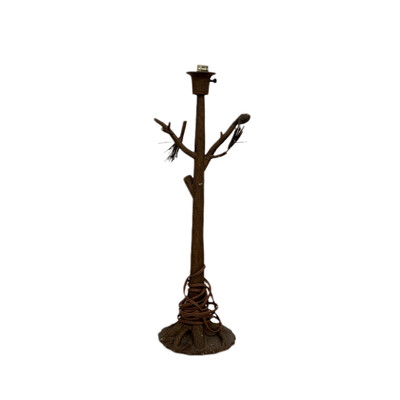 Metal Pine Tree Table Lamp