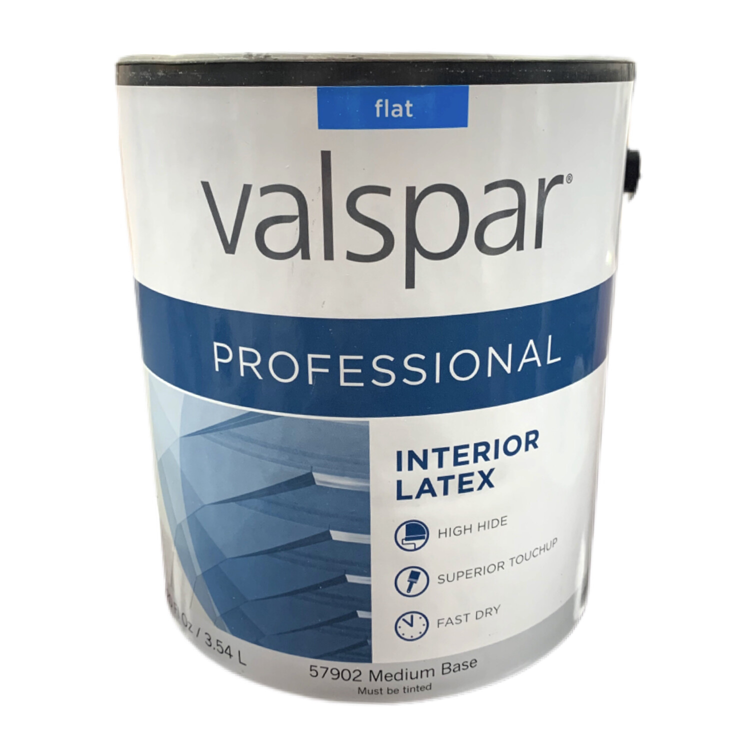 120 Oz ​Valspar Professional Interior Latex Flat Medium Base 57902