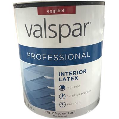 120 Oz Valspar Professional Interior latex Eggshell Med Base 57912