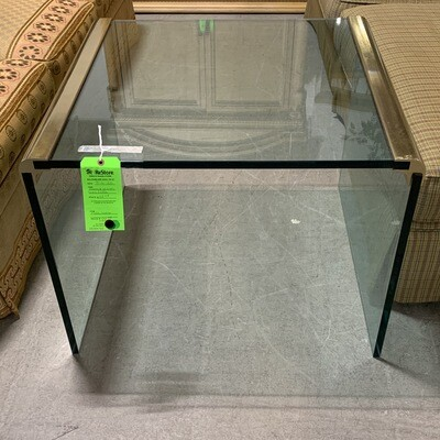 Brasss & Glass Side Table