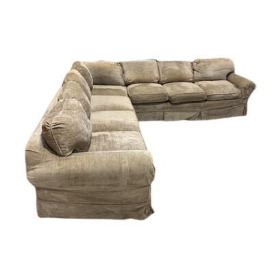 3 Pc Beige Sectional