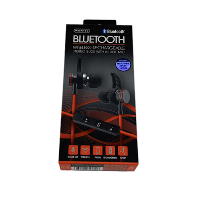 Sentry Red Wireless Bluetooth Stereo Buds With In- Line Mic BT250