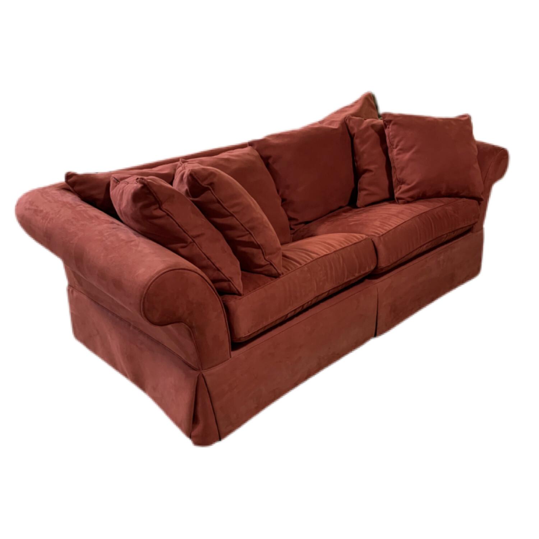 Red Microfiber Sleeper Sofa