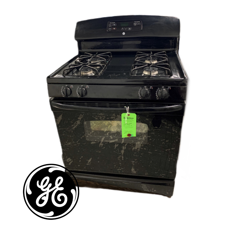 GE Black Gas Stove