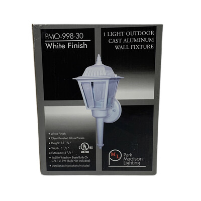 Exterior White Finish Light Fixture