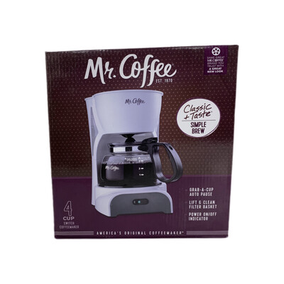 Mr. Coffee 4 Cup Switch Coffee Maker White