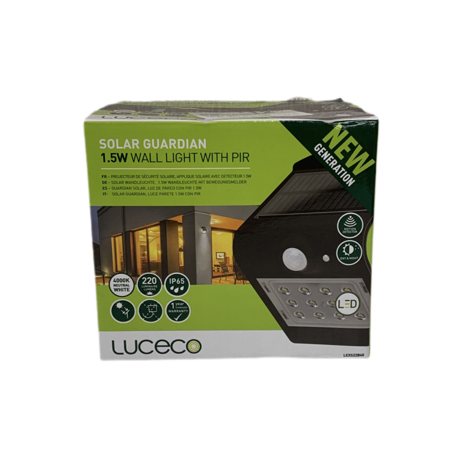 Luceco Solar Guardian Wall Light