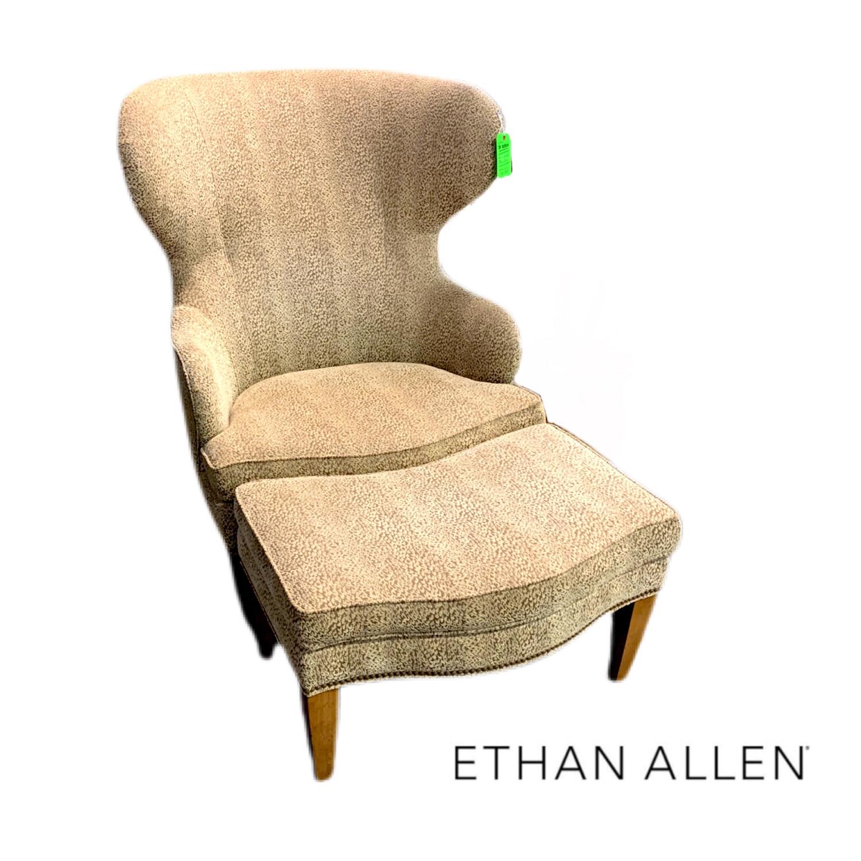 Ethan Allen Armchair & Ottoman