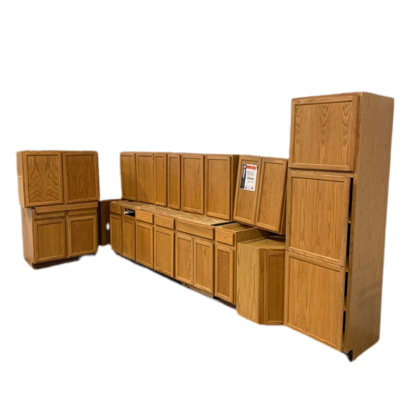 Medium Oak Kitchen Cabinet
