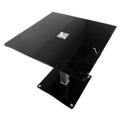 Black Glass Tea Table