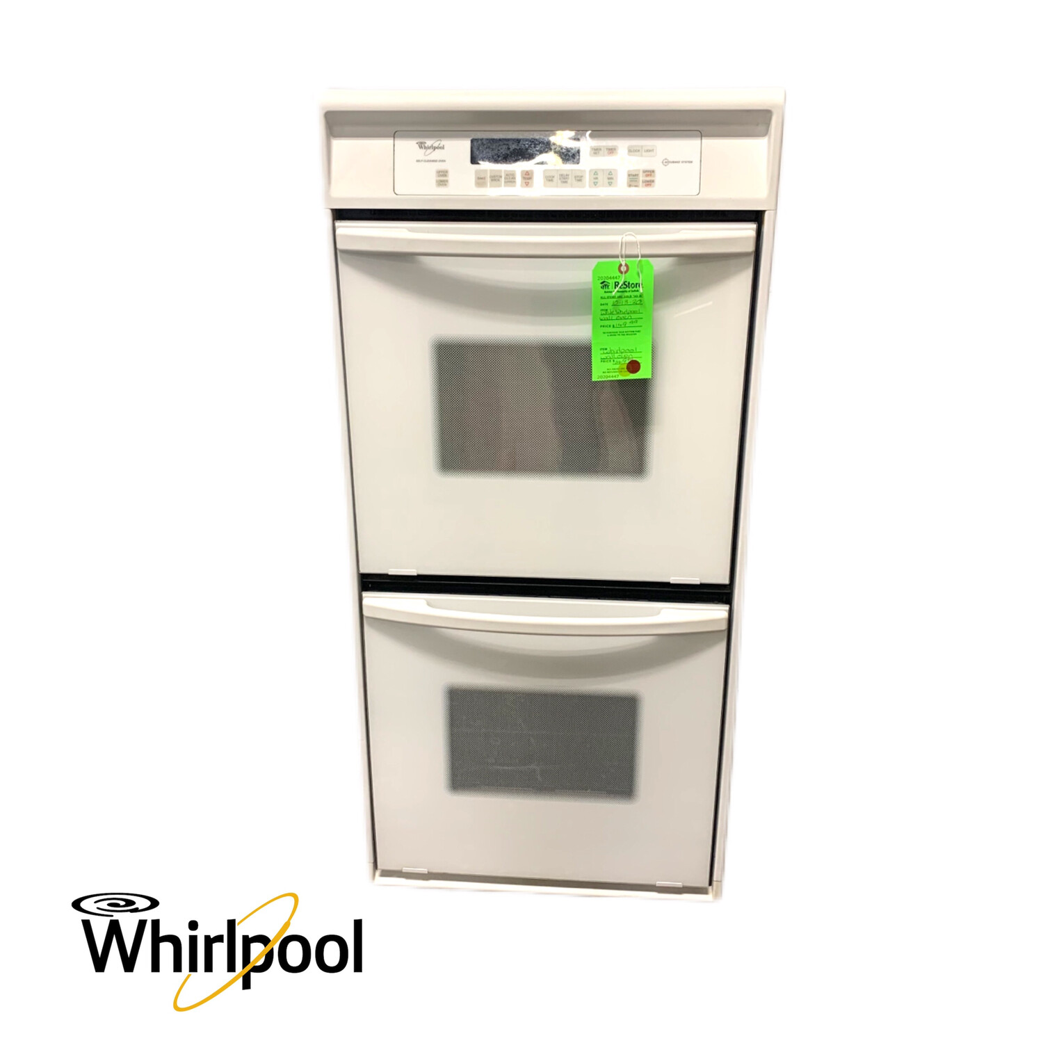 White Whirlpool Wall Oven
