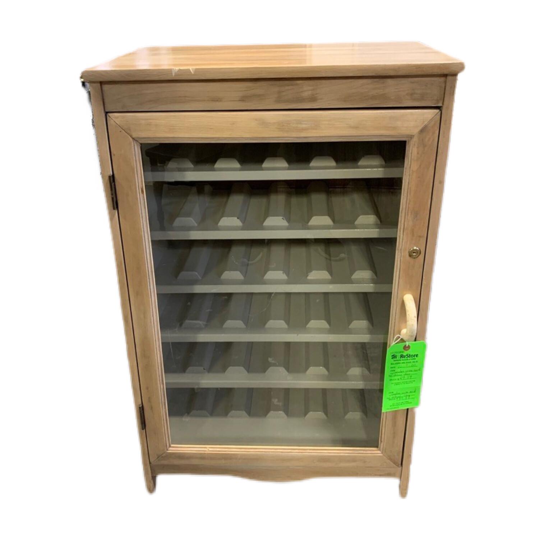 Wooden Wine Rack With Glass Door