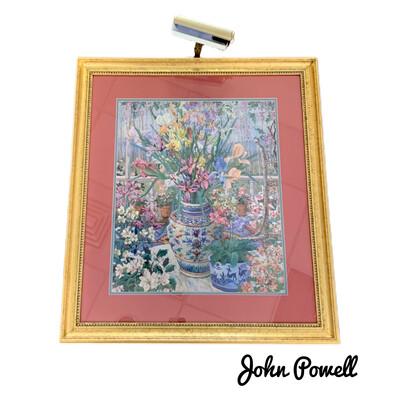 John Powell Still Life On The Veranda Signed Wall Art