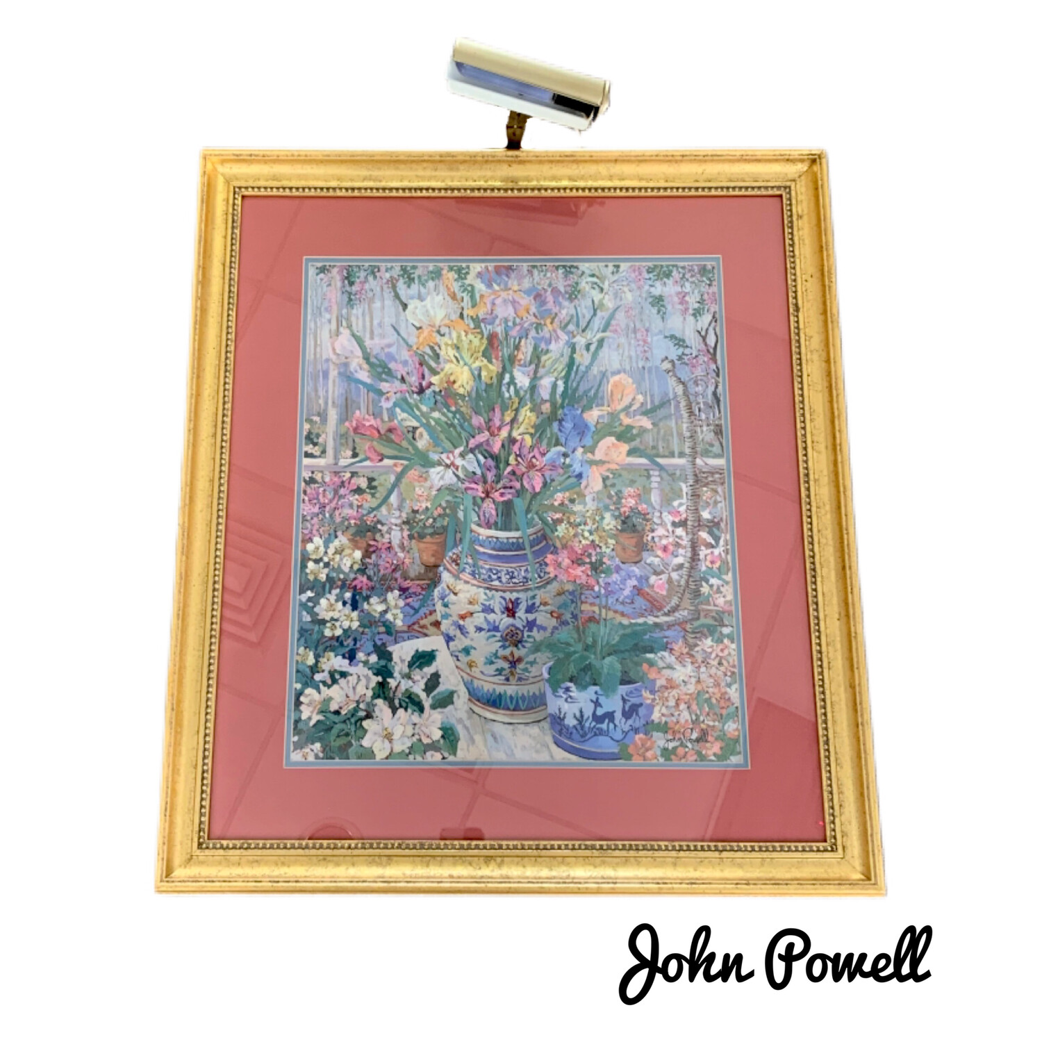 John Powell Still Life On The Veranda Signed Wall Art