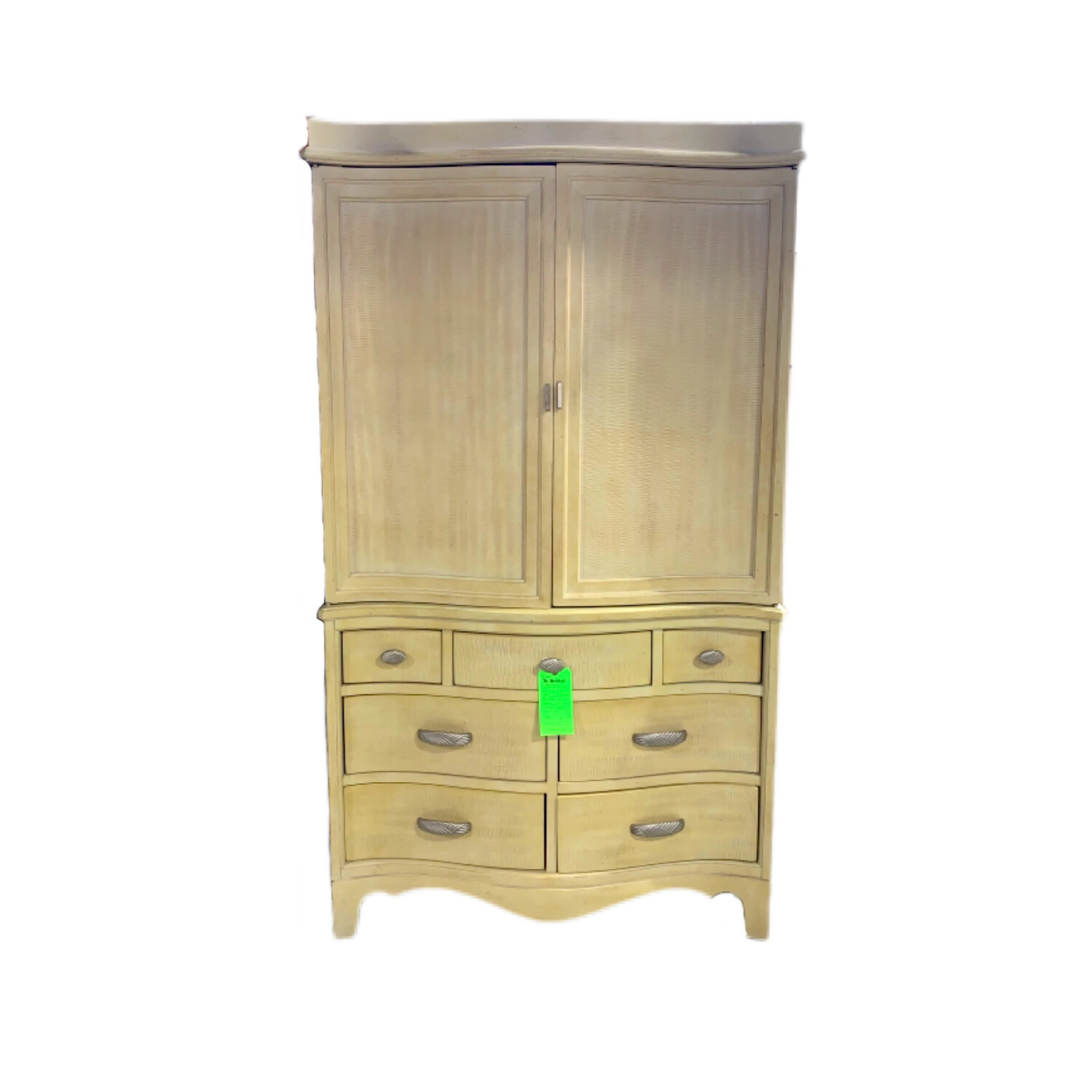 7 Drawer Dresser Armoire Beige