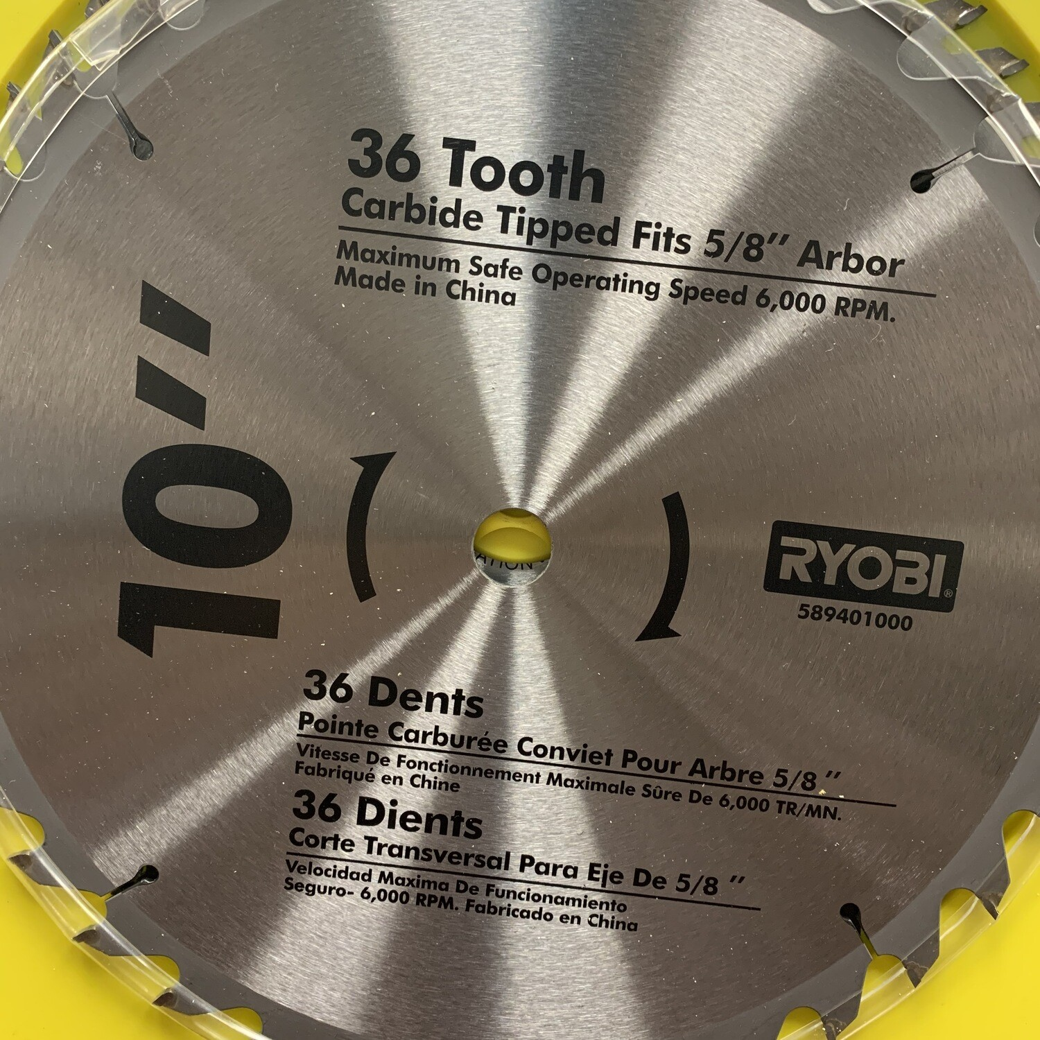 "Ryobi 10"" 36 Teeth Carbide Replacement Blade"