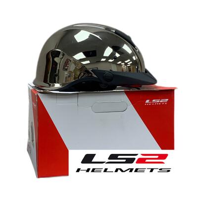 LS2 Helmets Rebellion Solid Black Chrome(16)