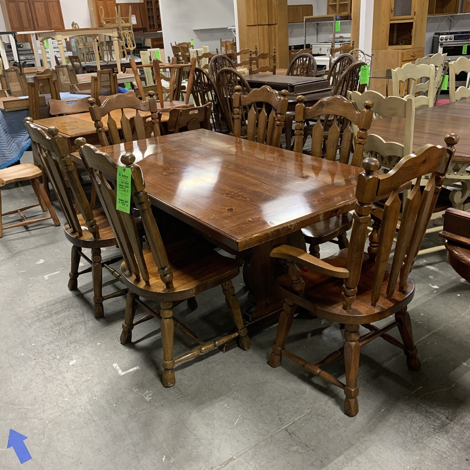 Wooden Table 6 Chairs