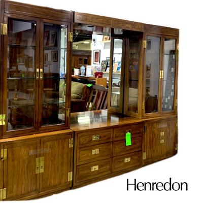6 Pc Henredon Wall Unit