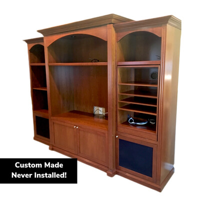 Entertainment Medium Cherry Wall Unit