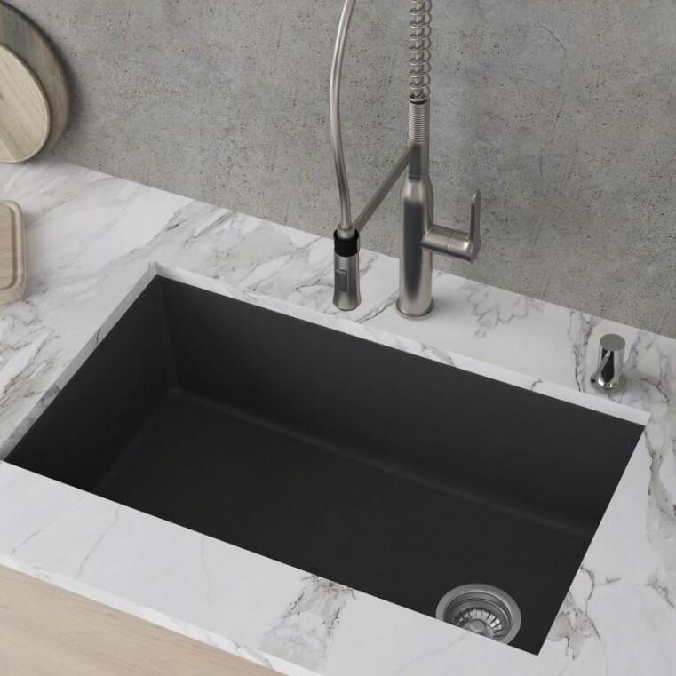 Kraus KGU55Black Undermount Kitchen Sink