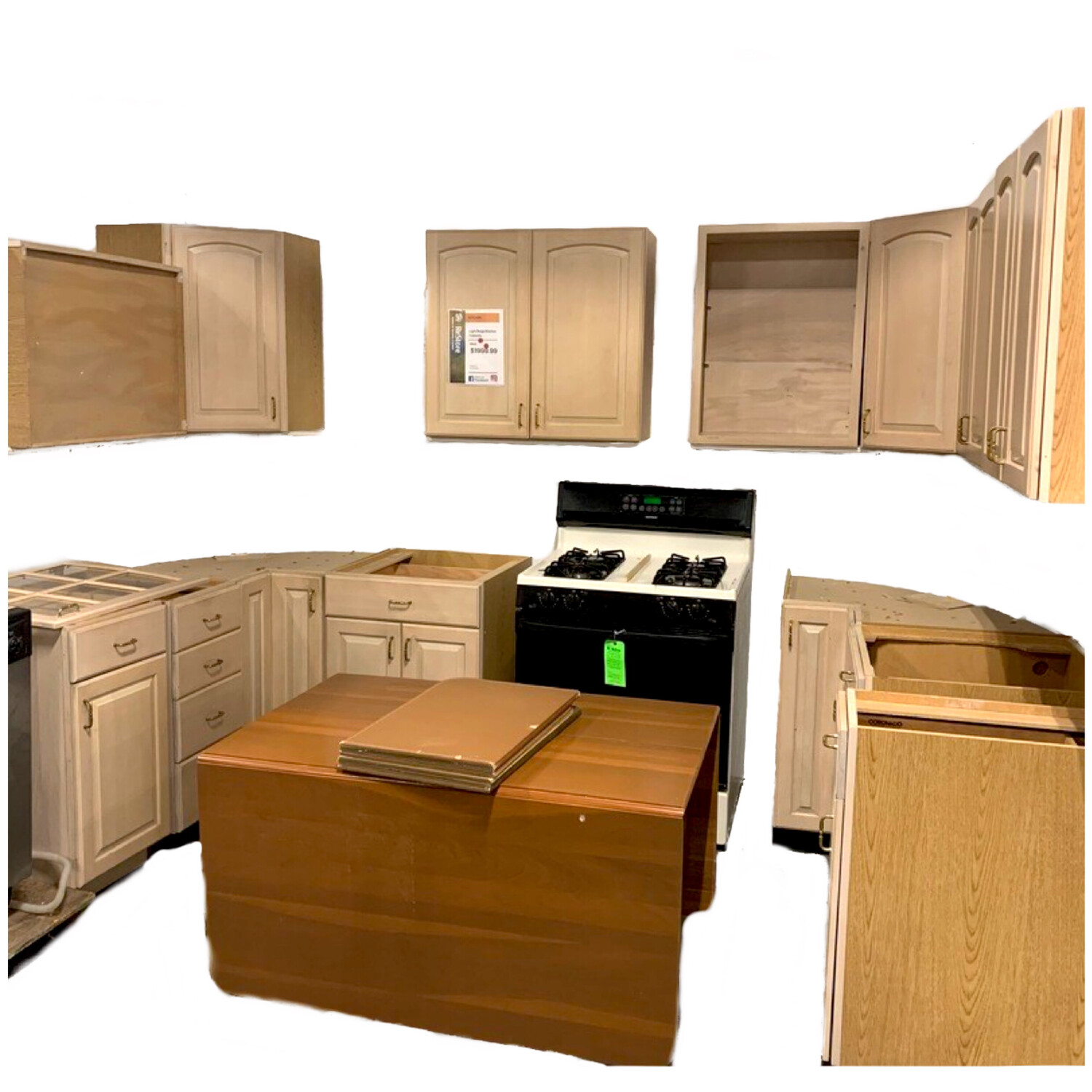 Frosted  Kitchen Cabinets