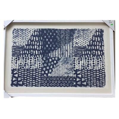 Blue Tiles Acrylic Canvas Art