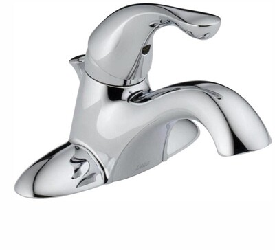 Delta Classic Centerset Bathroom Faucet with Pop-Up Drain Assembly