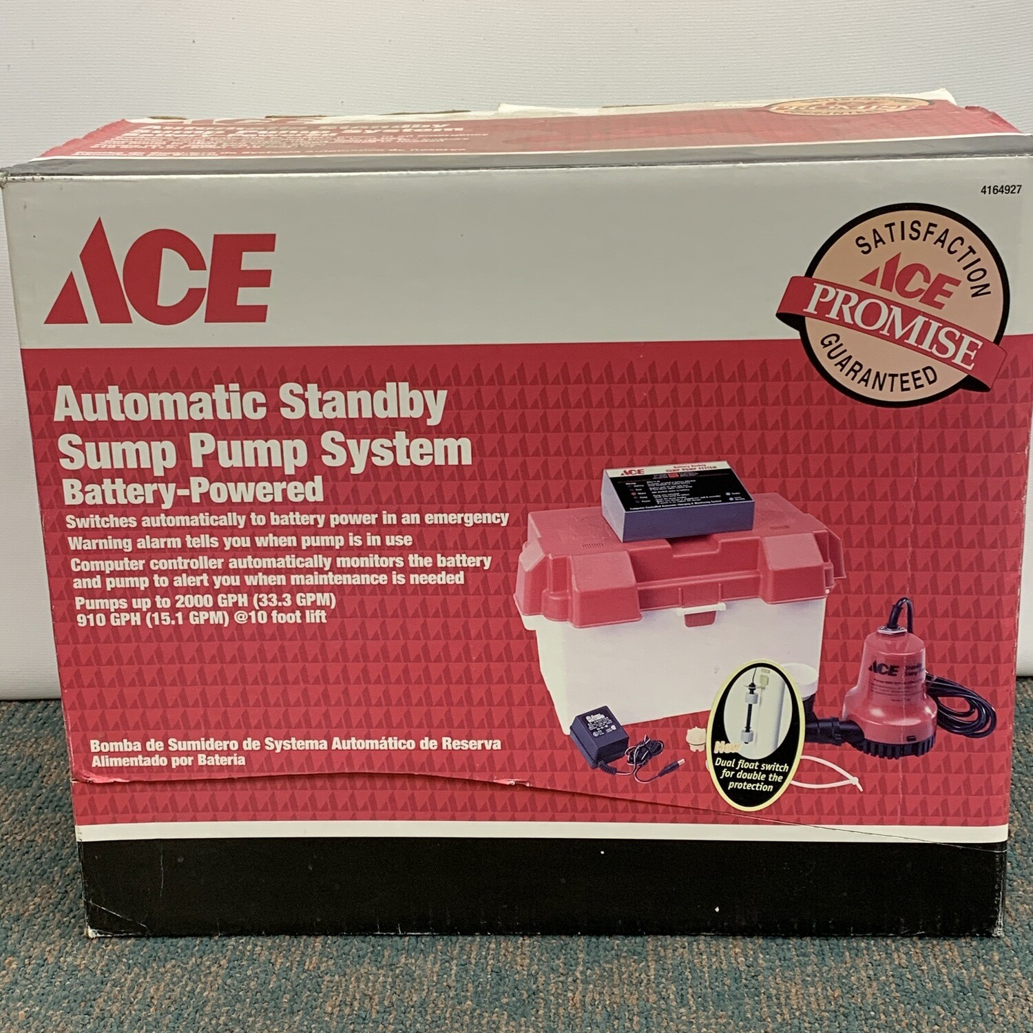 Ace Automatic Battery Powered  Standby Sump Pump System