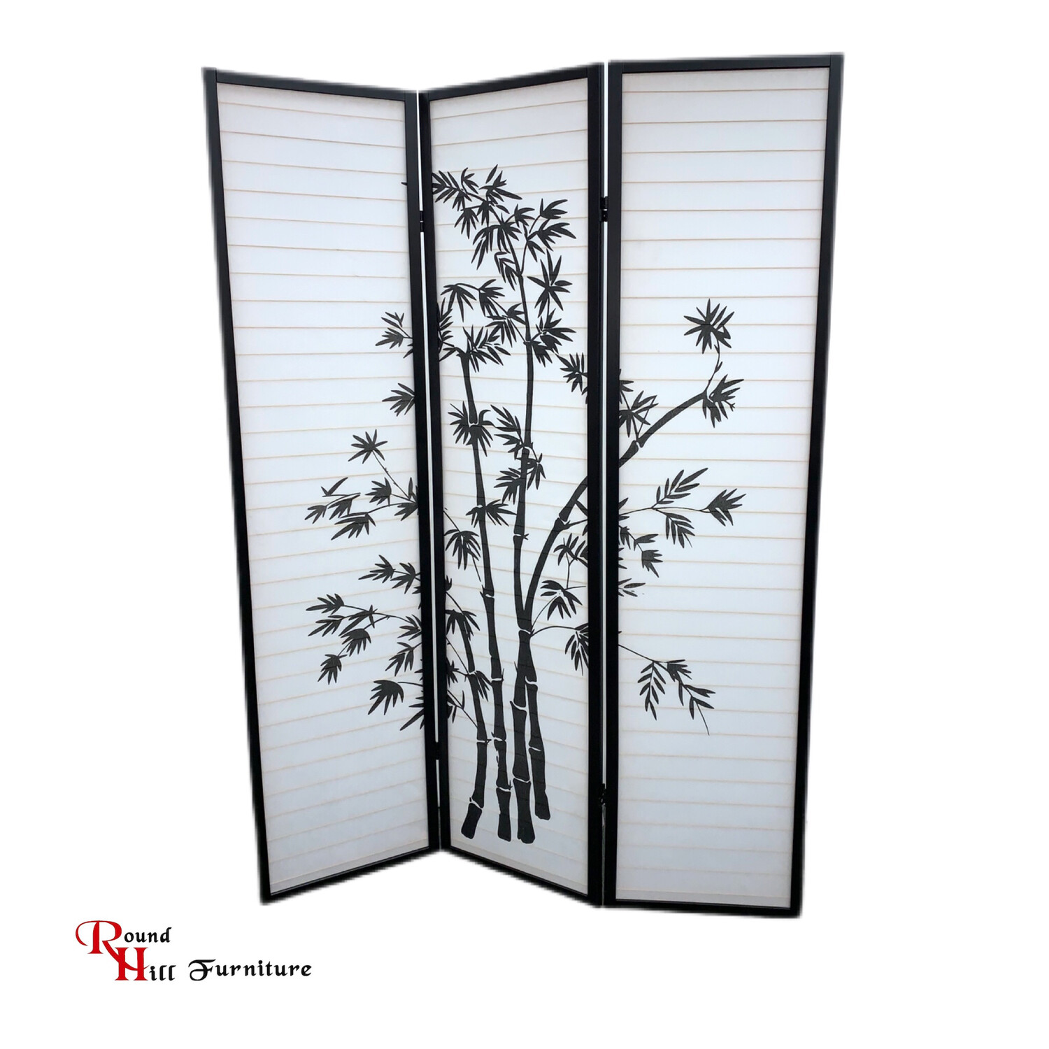 Roundhill Furniture 3-Panel Asian  Shoji Room Divider Screen